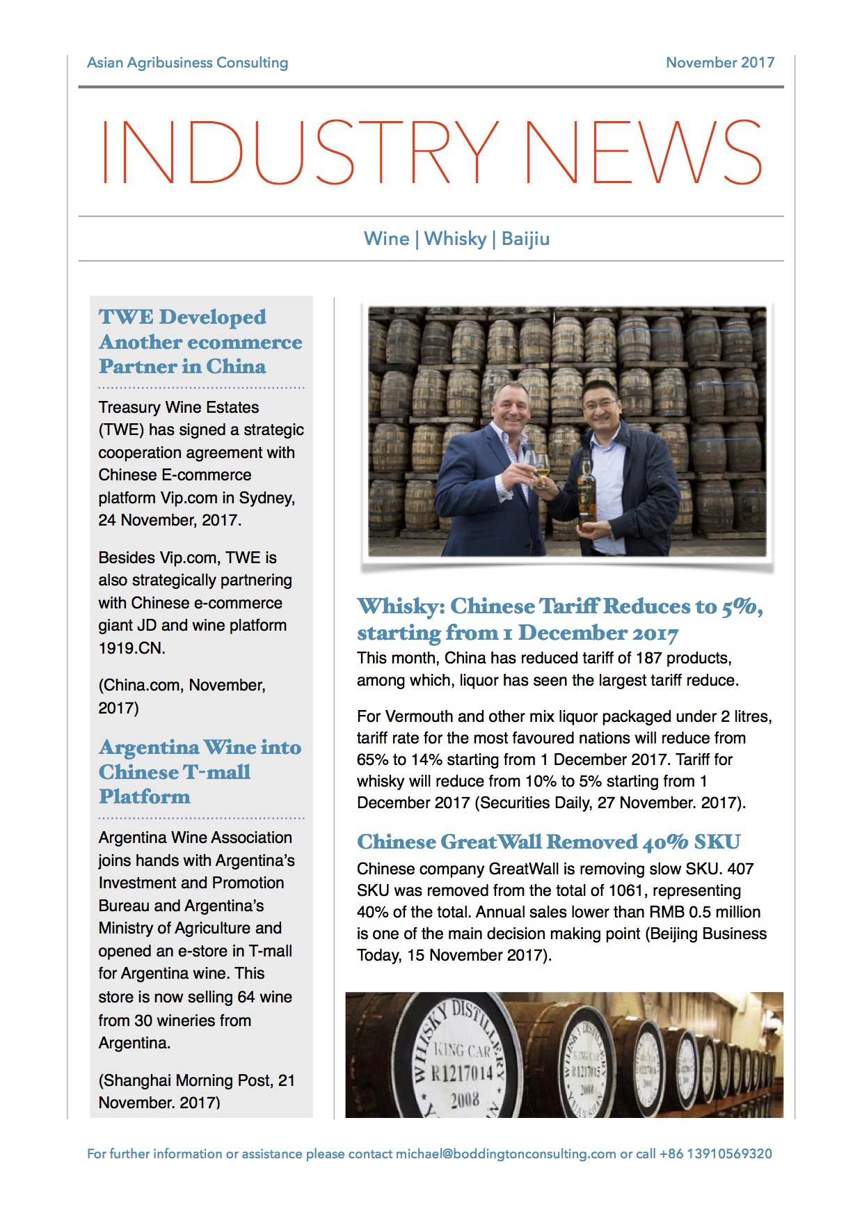 AACs November Wine and Spirits Newsletter